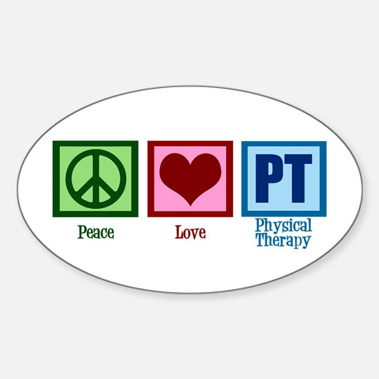 Peace Love PT Sticker (Oval)