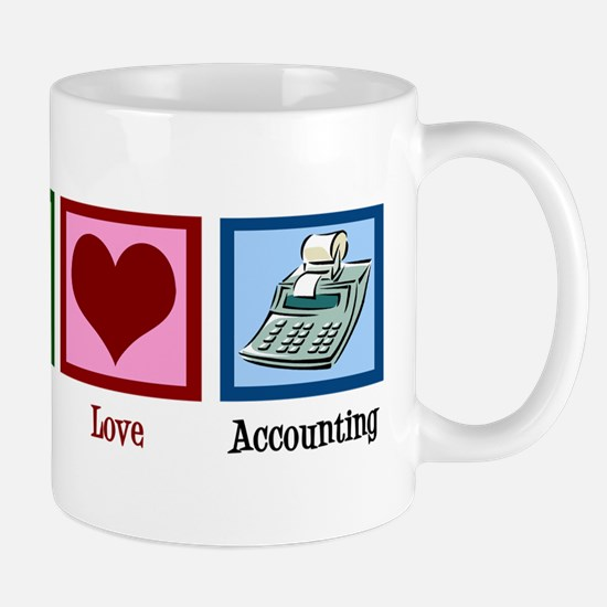 Peace Love Accounting Mug