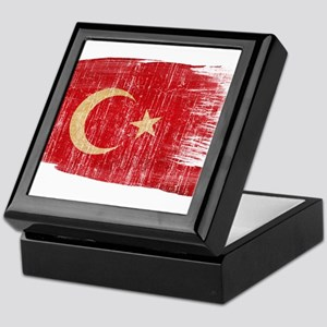 Turkeytex3-paint style aged copy Keepsake Box
