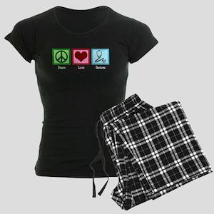Peace Love Doctors Women's Dark Pajamas