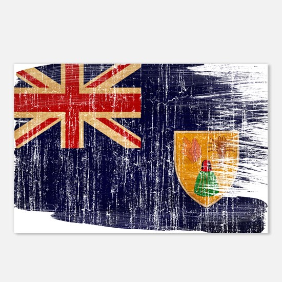 Turks and Caicos Flag Postcards (Package of 8)
