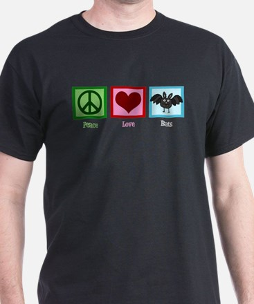 Peace Love Bats T-Shirt