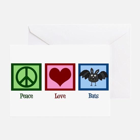 Peace Love Bats Greeting Card