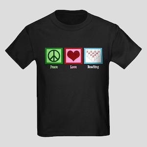 Peace Love Bowling Kids Dark T-Shirt