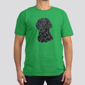 Flat Coated Retriever Men's Fitted T-Shirt (dark)