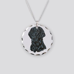 Flat Coated Retriever Necklace Circle Charm