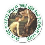 You Personal Satyr Round Car Magnet