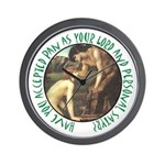 You Personal Satyr Wall Clock