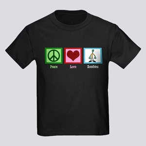 Peace Love Zombies Kids Dark T-Shirt