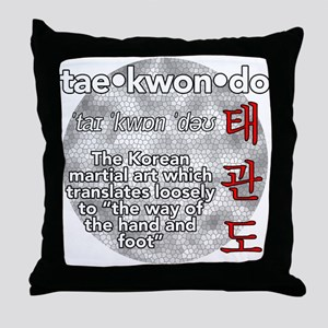 The meaning of TKD Throw Pillow