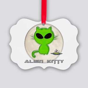 alien kitty Picture Ornament