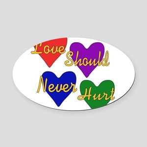 abuse01 Oval Car Magnet