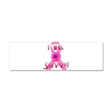 breast_cancer_survivor02.png Car Magnet 10 x 3