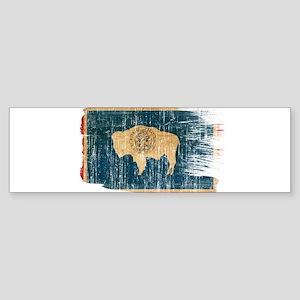 Wyoming Flag Sticker (Bumper)