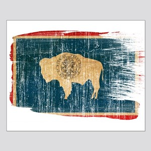 Wyoming Flag Small Poster