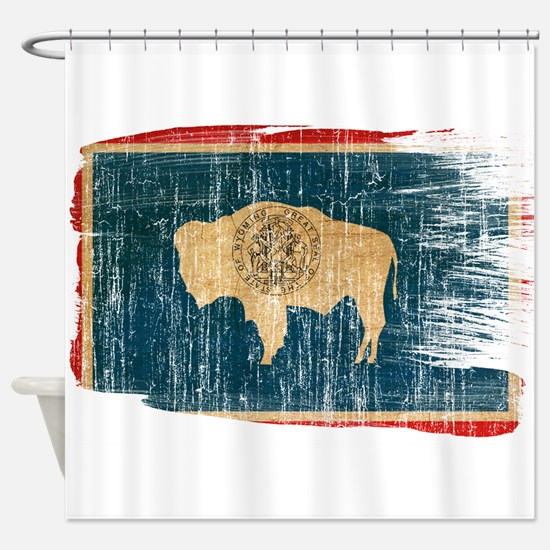 Wyoming Flag Shower Curtain