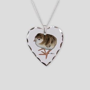 Bourbon Red Poult Necklace Heart Charm