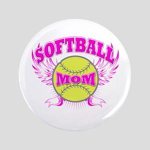 """Softball mom 3.5"""" Button"""
