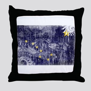 Alaska Flag Throw Pillow