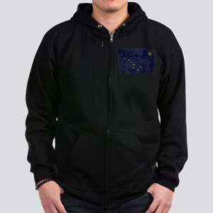 Alaska Flag Zip Hoodie (dark)