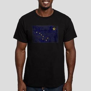 Alaska Flag Men's Fitted T-Shirt (dark)