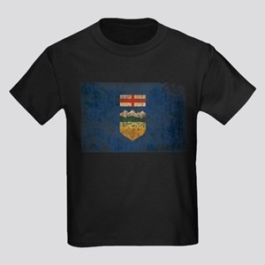 Alberta Flag Kids Dark T-Shirt
