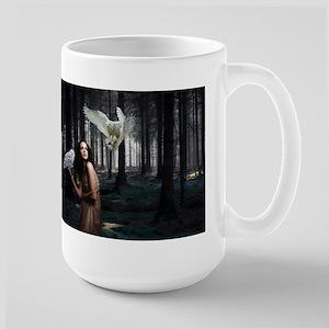 Owl Lady Large Mug