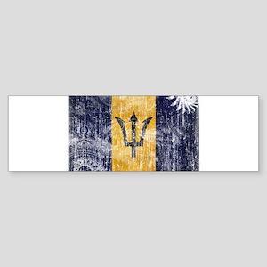 Barbados Flag Sticker (Bumper)