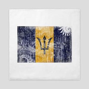 Barbados Flag Queen Duvet