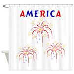 american FIREWORKS5 Shower Curtain