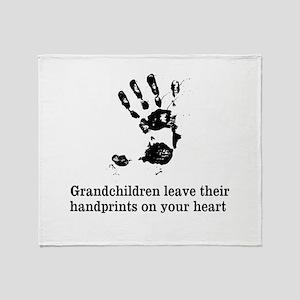 handprints Throw Blanket