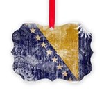 Bosnia and Herzegovina Flag Picture Ornament