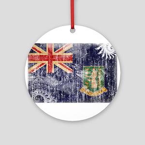 British Virgin Islands Flag Ornament (Round)