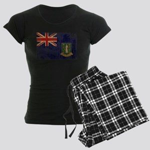 British Virgin Islands Flag Women's Dark Pajamas