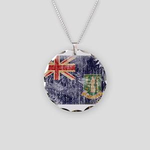 British Virgin Islands Flag Necklace Circle Charm