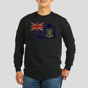 British Virgin Islands Flag Long Sleeve Dark T-Shi