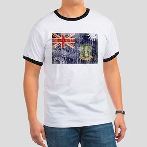 British Virgin Islands Flag Ringer T