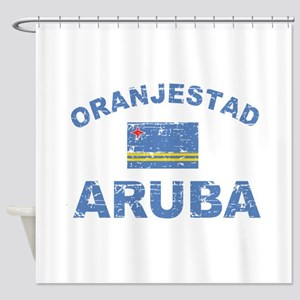Oranjestad Aruba designs Shower Curtain