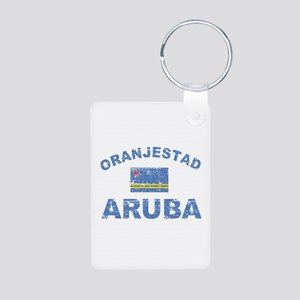 Oranjestad Aruba designs Aluminum Photo Keychain