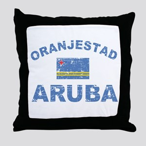 Oranjestad Aruba designs Throw Pillow