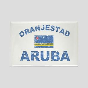 Oranjestad Aruba designs Rectangle Magnet