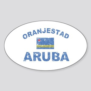 Oranjestad Aruba designs Sticker (Oval)