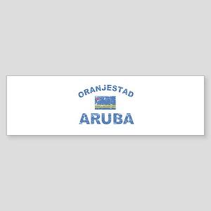 Oranjestad Aruba designs Sticker (Bumper)