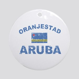 Oranjestad Aruba designs Ornament (Round)