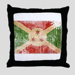Burundi Flag Throw Pillow