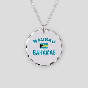 Nassau Bahamas designs Necklace Circle Charm