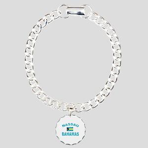 Nassau Bahamas designs Charm Bracelet, One Charm