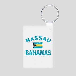 Nassau Bahamas designs Aluminum Photo Keychain