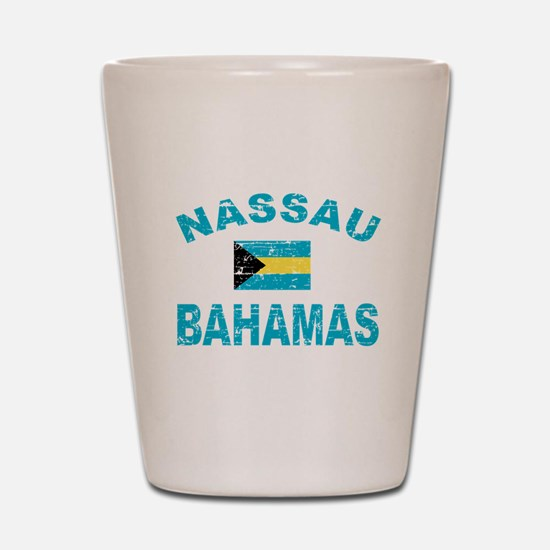 Nassau Bahamas designs Shot Glass