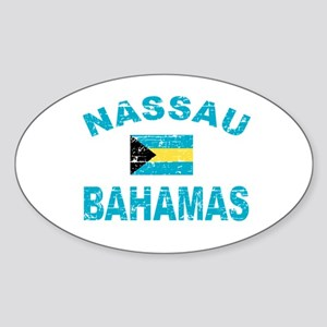 Nassau Bahamas designs Sticker (Oval)